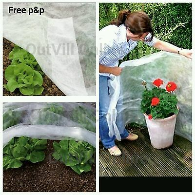 White 1.5m Plant fleece winter frost protection Garden Horticultural Landscape B