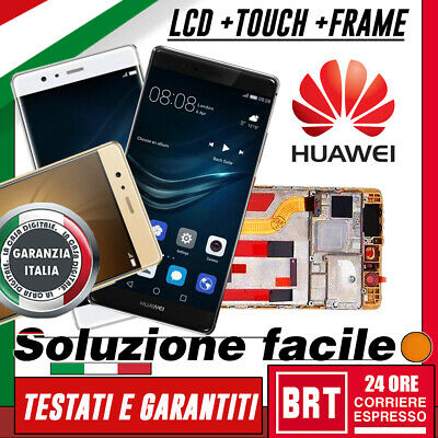 Lcd+Touch Screen+Frame Originale Huawei P9 Plus Display Assemblati Vetro Vie-L09
