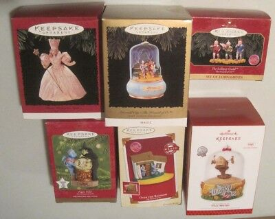 """Lot of 6 Rare and Collectible Hallmark """"Wizard of Oz"""" Christmas Ornaments"""