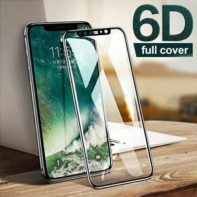 For iPhone 8 Tempered Glass Full Coverage Screen Protector Ultra Slim Film