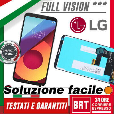 Display Lcd+Touch Screen Schermo Lg Q6 M700 Lgm700A Vetro Nero Fullvision_24H!!