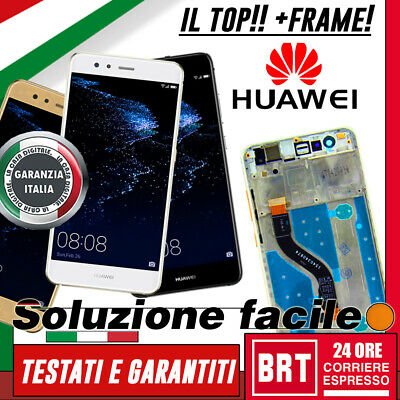 LCD DISPLAY HUAWEI P10 Lite FRAME TOUCH SCREEN WAS-LX1A WAS-LX1 VETRO ORIGINALE