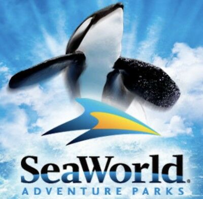 SEAWORLD ORLANDO 2 Two Park Ticket + FREE ALL DAY DINING Both Days PROMO NO FEES