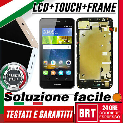 Lcd+Touch Screen+Frame Per Huawei Ascend Y6 Scl-L01 Scl-L21 Display Vetro