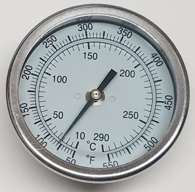 """5/"""" RCT55 BBQ CHARCOAL GAS ELECTRIC GRILL SMOKER PIT THERMOMETER 5/"""" STEM 50-550"""