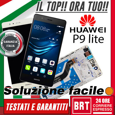 Lcd+Touch Screen+Frame Huawei P9 Lite Display Vetro Originale Vns-L31 L23_24H!!