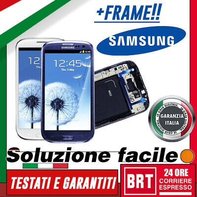 Lcd+Touch Screen+Frame Samsung Galaxy S3 Neo I9301 I9308 Display Vetro_24H!!