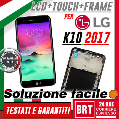 Lcd+Touch Screen+Frame Vetro Per Lg K10 2017 M250N Display Schermo Originale_24H