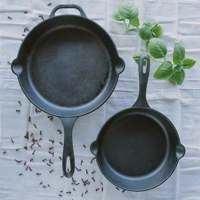 """Cast Iron Skillet Pan 8"""" Seasoned Round Oven Cookware Fry Pot With Handle"""
