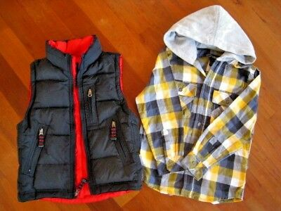 Boys Mix Lot Puffer Vest & Shirt Gap, Urban Size 7, Small