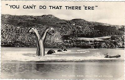 """719 - Loch Ness Monster - """"You can't do that there 'ere"""" - postcard 1961"""