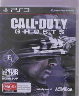 Sony PlayStation 3 PS3 Call Of Duty Ghosts Game Rated MA PAL