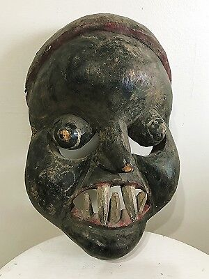 Antique African IBIBIO MASK - Idiong Society: Hand CARVED Wood - RARE & Striking