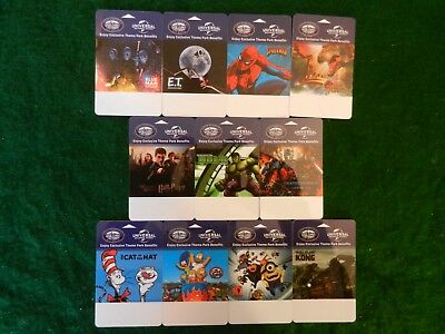 COMPLETE SET of ELEVEN (11) of *LOWE'S PORTOFINO BAY HOTEL* HOTEL ROOM KEY CARDS