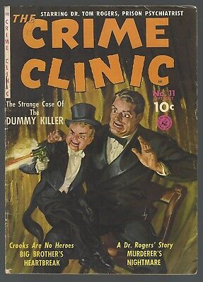 Crime Clinic #11 Ziff-Davis Comics 1951 Spectacular Norm Saunders Painted Cover!