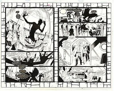 Promethea #22 pages 2-3, Original Art by J.H. Williams, Mick Gray, Alan Moore