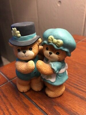Enesco Lucy & Me Dancing Bear Couple Irish St. Patricks Day Figurines