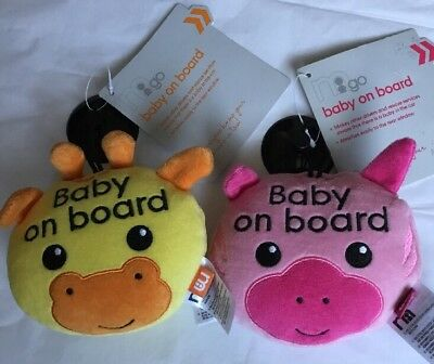 2 Mothercare Baby On Board Safety Car Window Signs ** Brand New **