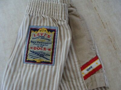 Vtg LITTLE LEVIS Rowers Boating Dock Striped Race Shorts Boy Doll Toddler 3T USA