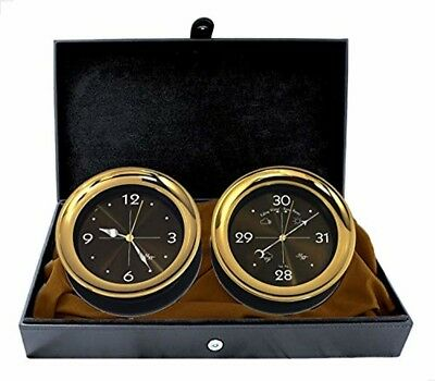 """Master-Mariner Halo Collection Gift Set, 5.85"""" Diameter Clock and Barometer In"""