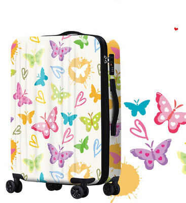 D344 Lock Universal Wheel Butterfly Travel Suitcase Cabin Luggage 20 Inches W