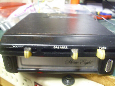 Stereo Eight under dash auto  8 track tape  player serviced tested