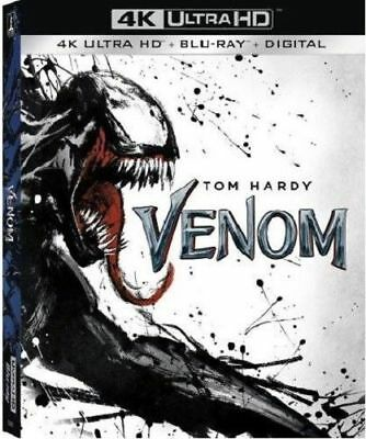 Venom  4K Ultra Hd, Blu-Ray No Digital Or Slipcover Pre-Owned Free Shipping!!