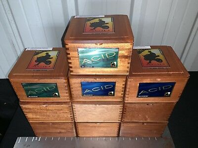 ACID BLONDIE Empty Wooden Cigar Boxes! LOT OF 10! 6x6x4