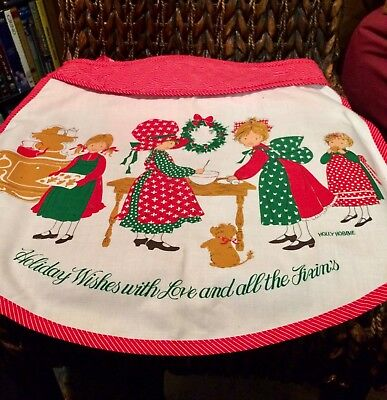Vintage Holly Hobbie Christmas Apron By American Greetings