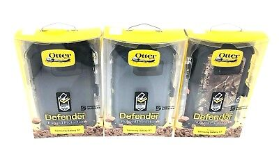Otterbox Defender case for Samsung Galaxy S7 With Belt Clip Camo Black New