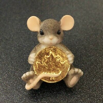 THE LEAF & ACORN CLUB member exclusive CHARMING TAILS Lucky Coin MOUSE Pin 2001