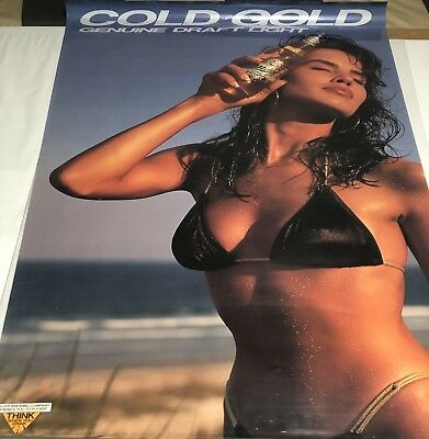 Vintage Beer Girl Posters~Lot of 5~ Babes/Coors/Coors Extra Gold Coors Light