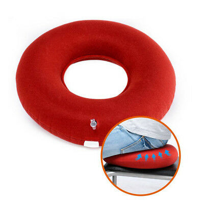 Inflatable PVC ring round seat cushion medical hemorrhoid pillow donut +Inflator