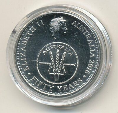 2016 Australian 10cent Coin in Plastic Case - 50 Years of Decimal Currency #101