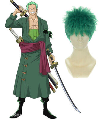 Short One Piece-Roronoa Zoro Green Cosplay Party Costume Anime Wig243A