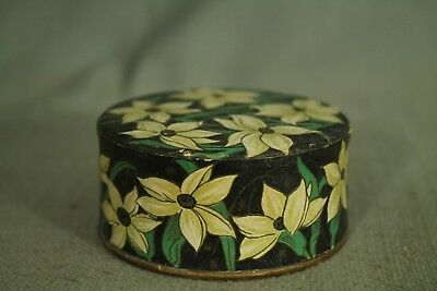 rare vintage old Powder Box Friend making package Doux Jasmin France flowers