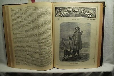 book of The Gospel in all Lands rare antique old leather The Mormon delusion