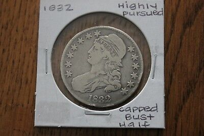 1832   Highly Pursued    Capped Bust Half Dollar