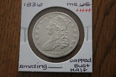 1836   Amazing   Unc+++   Capped Bust Half Dollar