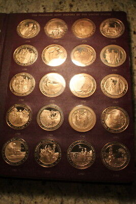"""1968 FRANKLIN MINT """"History Of The United States"""" Special Solid Bronze Coins V.1"""