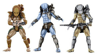 "NECA Game Alien vs Predator Collectibles 7"" Action Figure (Mad, Warrior, Hunter)"
