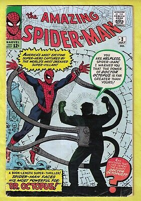 "The Amazing Spider-Man #3 (July 1963, Marvel) ""Spider-Man Versus Doctor Octopus"""
