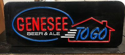 Very Cool Vintage Genesee Beer & Ale TO GO Light Up Sign - Works