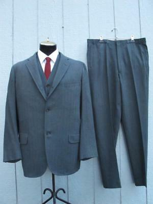 VTG 60's Brooks Brothers 3 Roll 2 Wool 3-Piece Suit - Ivy Prep - Size 41 (36x32)