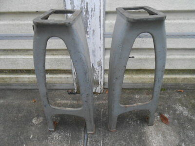 A Set of Cast Iron Legs from an Atlas Craftsman Metal Lathe