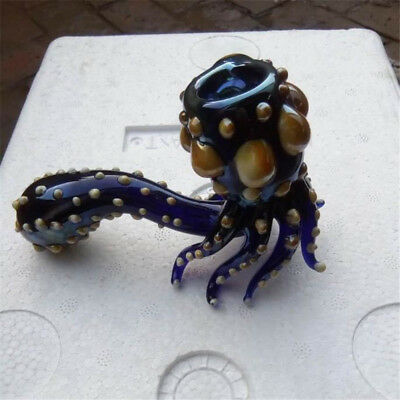 Blue Octopus Shaped Smoking Pipe Ware Personality Accessories Glass Tobacco Pipe