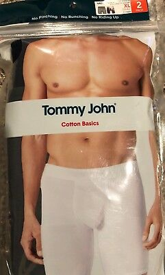 Tommy John 2 pack XL Cotton Boxer Brief  Grey and Blue