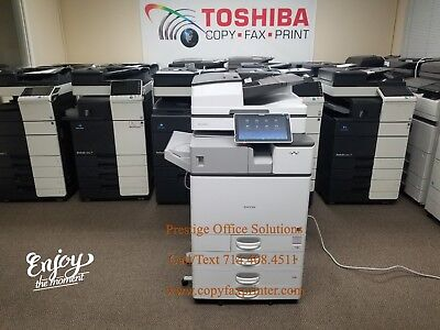 Ricoh MP C3504ex Copier Printer Scanner with Stapling Finisher. Meter only 39k