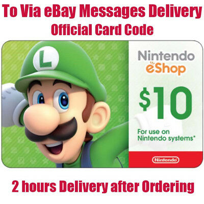 Nintendo $10 eShop Gift Card 10 USD Nintendo Switch/3DS/WiiU-Email Delivery