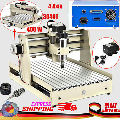 400W 4Axis 3040 Router Engraver Milling Engraving Cutter T-Screw Desktop Cutting